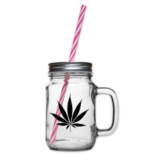 Weedblatt - Glass jar with handle and screw cap