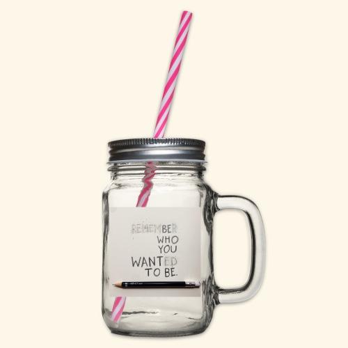 Be who you want to be - Drinkbeker met handvat en schroefdeksel