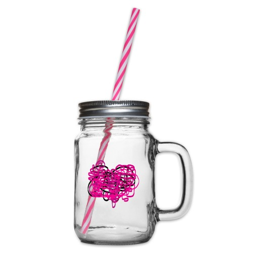 delicious pink - Glass jar with handle and screw cap