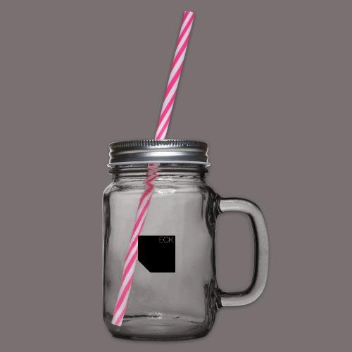 ecke - Henkelglas mit Schraubdeckel