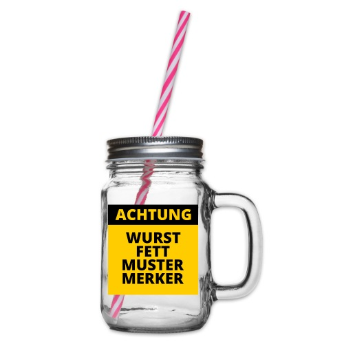 Achtung - Wurstfett! - Jarra con asa y tapa roscada