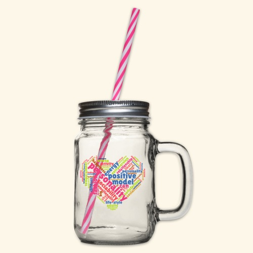 Positive Personality Model - Glass jar with handle and screw cap