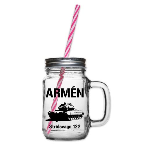 ARMÉN - Stridsvagn 122 - Glas med handtag och skruvlock