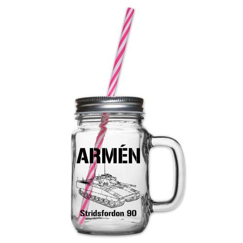 Armén Stridsfordon 9040 - Glas med handtag och skruvlock