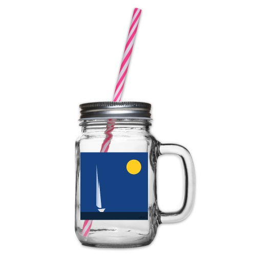 sail - Glass jar with handle and screw cap