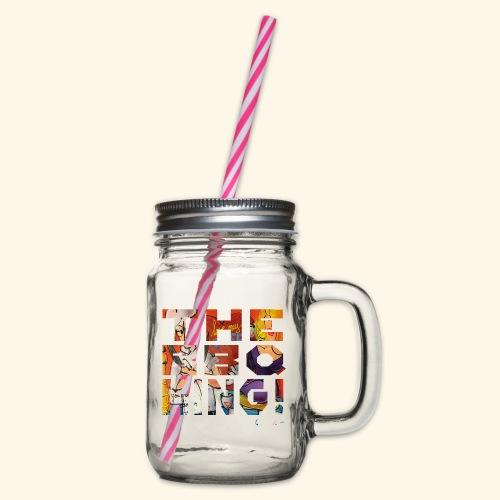 THE BBQ KING T SHIRTS TEKST - Drinkbeker met handvat en schroefdeksel