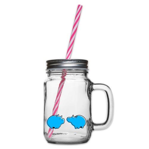 Cochons bleus - Bocal à boisson