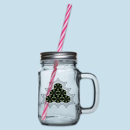 Stern - Henkelglas mit Schraubdeckel