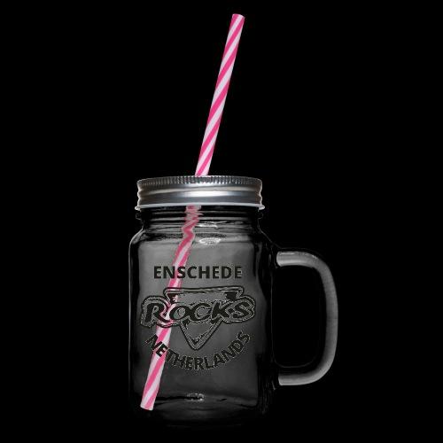 Rocks Enschede NL B-WB - Drinkbeker met handvat en schroefdeksel