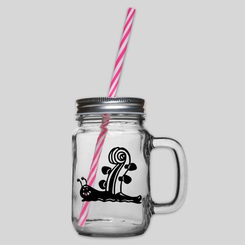 Geigenschnecke - Henkelglas mit Schraubdeckel