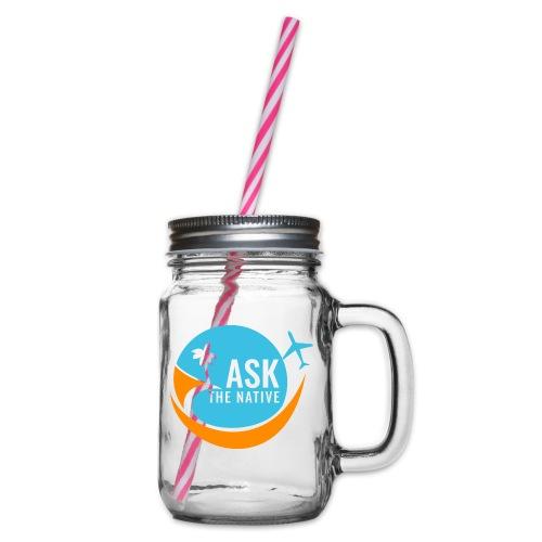Ask the Native Original Logo - Drinkbeker met handvat en schroefdeksel