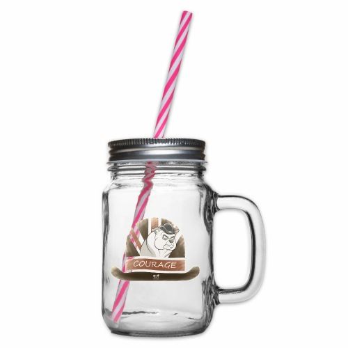 Bulldog Courage - Glass jar with handle and screw cap