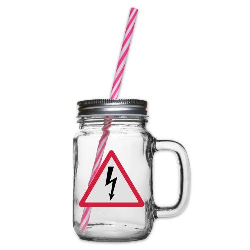 blitz - Henkelglas mit Schraubdeckel
