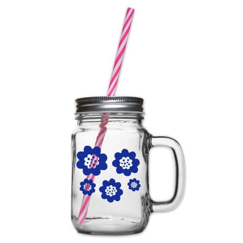 RETRO - Glas med handtag och skruvlock