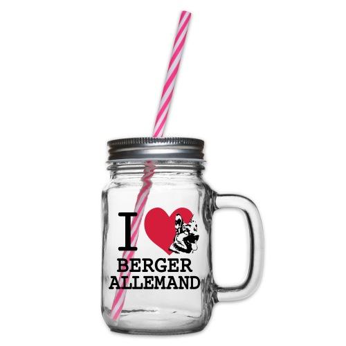 I love Berger Allemand tete - Bocal à boisson
