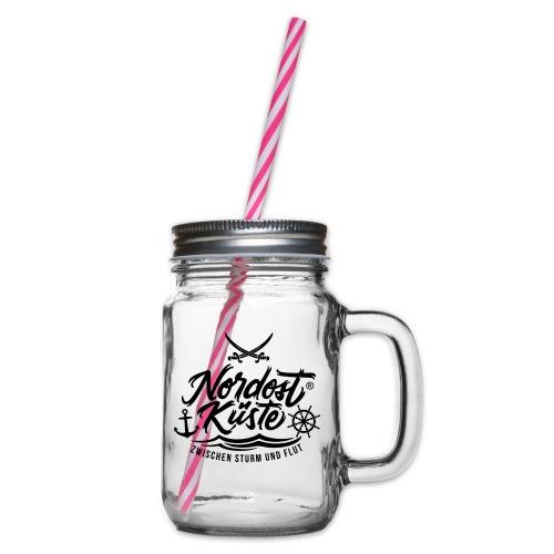 logo_1 - Henkelglas mit Schraubdeckel