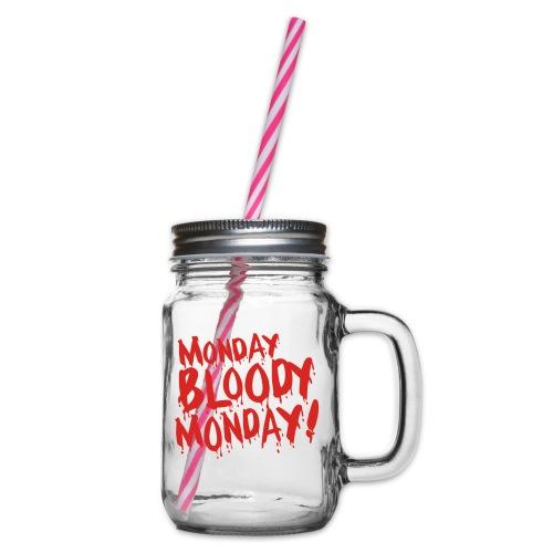 Monday Bloody Monday! - Drinkbeker met handvat en schroefdeksel