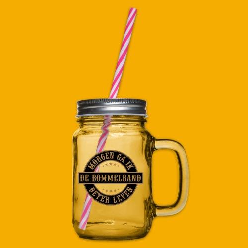 bb logo rond shirt - Drinkbeker met handvat en schroefdeksel