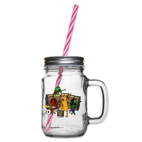 Kobold Metal Band - Glass jar with handle and screw cap
