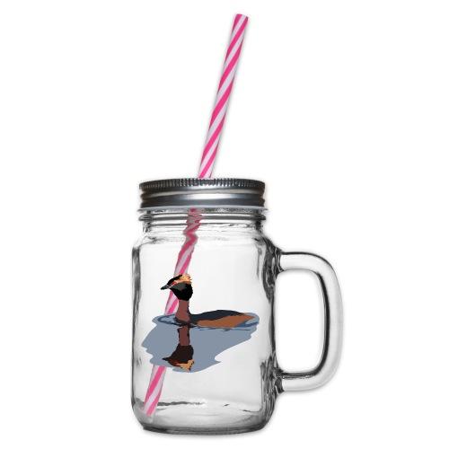Ohrentaucher - Henkelglas mit Schraubdeckel