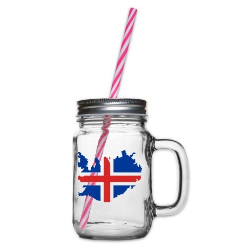 Iceland - Drinkbeker met handvat en schroefdeksel