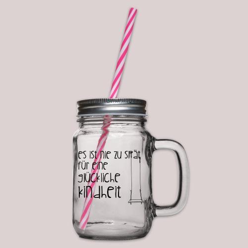 12-30 glückliche Kindheit - Henkelglas mit Schraubdeckel