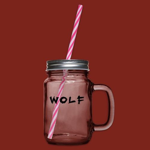 Wolf Font png - Drinkbeker met handvat en schroefdeksel