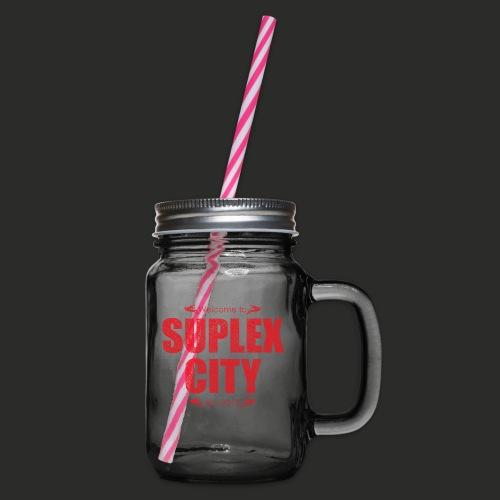 Suplex City Mens T-Shirt - Glass jar with handle and screw cap