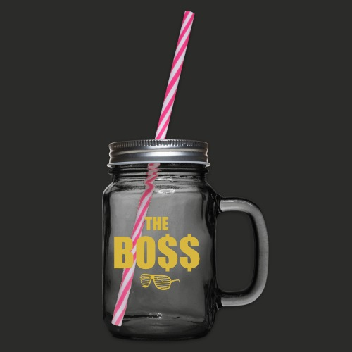 The Bo$$ Mens T-Shirt - Glass jar with handle and screw cap