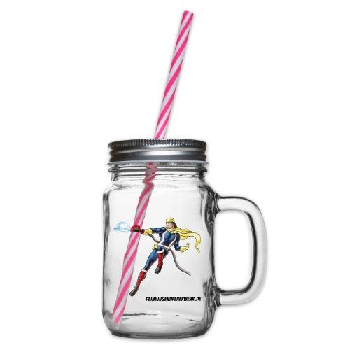 Captain Firefighter - Henkelglas mit Schraubdeckel