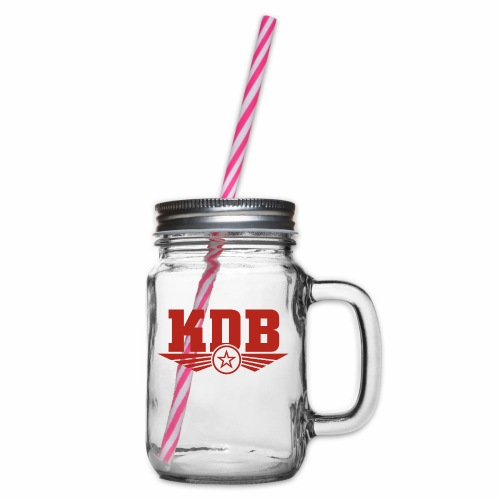 KDB - Glass jar with handle and screw cap