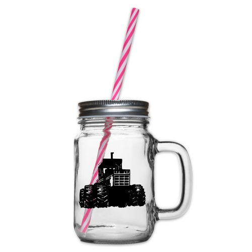 IH 4WD Tractor - Glass jar with handle and screw cap
