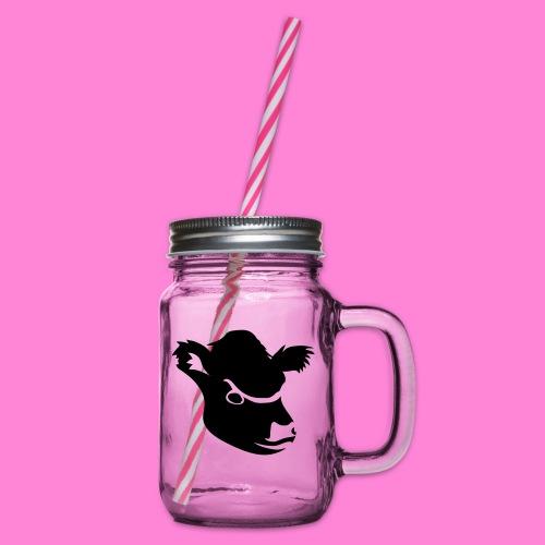gallowayhoofd1 - Drinkbeker met handvat en schroefdeksel
