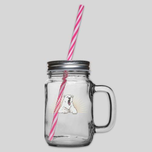Eisbääär - Henkelglas mit Schraubdeckel
