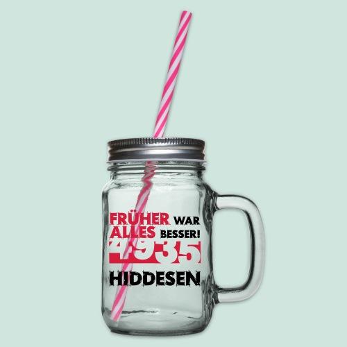 Früher 4935 Hiddesen - Henkelglas mit Schraubdeckel