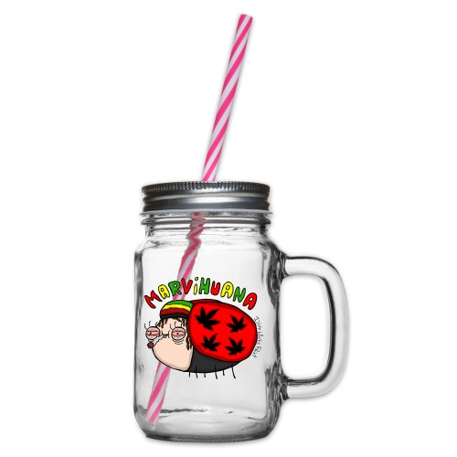 Marvihuana - Henkelglas mit Schraubdeckel