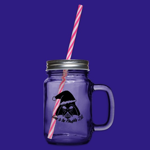 Vader's List - Glass jar with handle and screw cap
