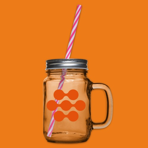 seed madagascar logo squa - Glass jar with handle and screw cap
