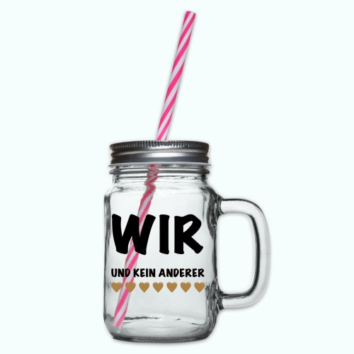 WIR - Glass jar with handle and screw cap