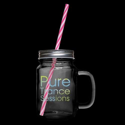 PureTrance100 transparantGROOT kopie png - Glass jar with handle and screw cap