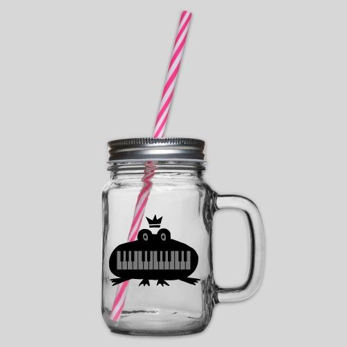 Pianofrosch - Henkelglas mit Schraubdeckel