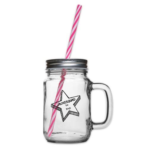 JACKESQUAD - Glas med handtag och skruvlock