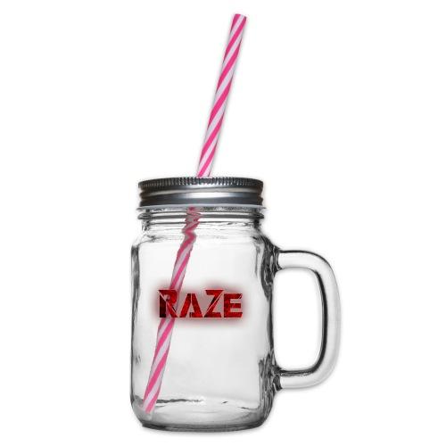 RaZe Logo - Glass jar with handle and screw cap