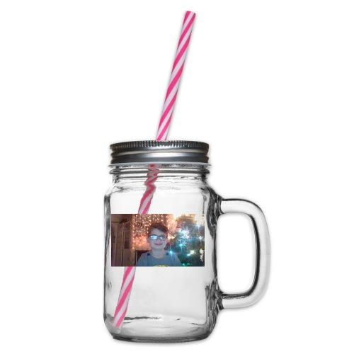 limited adition - Glass jar with handle and screw cap