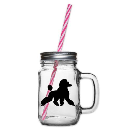 Pudel - Henkelglas mit Schraubdeckel