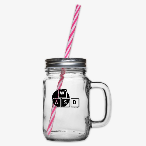 WASD Gaming is Life - Glass jar with handle and screw cap