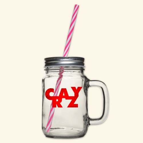 CRAZY - Glass jar with handle and screw cap