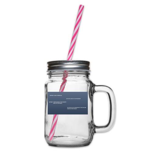 Running joke t-shirt - Glass jar with handle and screw cap