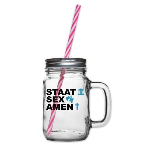 Staatsexamen / Staat Sex Amen - Henkelglas mit Schraubdeckel