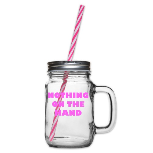 nothing on the hand roze - Drinkbeker met handvat en schroefdeksel